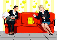 Affaires heureuses illustration stock