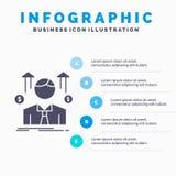 Affaires, homme, avatar, employ?, calibre d'Infographics d'homme de ventes pour le site Web et pr?sentation Ic?ne grise de GLyph  illustration de vecteur