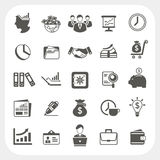 Affaires, icônes de finances réglées Images libres de droits
