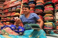 Affaires indiennes de tissu Photographie stock libre de droits