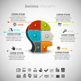 Affaires Infographic Image stock