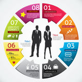 Affaires Infographics Photographie stock libre de droits