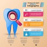 Affaires Infographics Icône de dent illustration stock