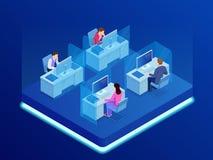 Affaires isométriques Team Professional Occupation Workplace Concept Illustration de vecteur de bannière de travail d'équipe illustration de vecteur