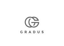 Affaires linéaires de vecteur de la lettre G Logo Monogram Image libre de droits