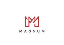 Affaires linéaires de vecteur de la lettre M Logo Monogram Photographie stock libre de droits