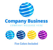Affaires Logo Symbol de Global Company Image stock