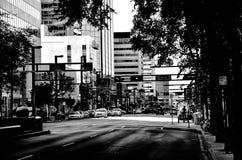 Affaires modernes d'Edmonton noires et blanches photos libres de droits