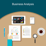 Affaires Person Analyzes Data Economy Statistics Photographie stock