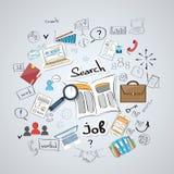 Affaires recherchant Job Newspaper Classified Image libre de droits