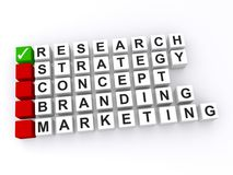 Affaires réussies basées sur la recherche Image stock