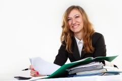 Affaires, stylo, femmes Images libres de droits