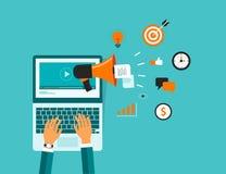 Affaires sur la ligne contenu visuel de vente Image libre de droits
