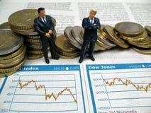 Affaires sur le marché boursier Image stock