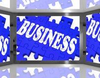 Affaires sur le marketing de Screen Shows Corporation Image stock