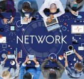 Affaires Team Connection Technology Networking Concept images libres de droits