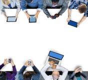Affaires Team Connection Technology Networking Concept photographie stock libre de droits