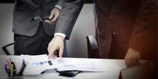 Affaires Team Corporate Organization Meeting Concept images libres de droits