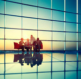 Affaires Team Discussion Meeting Corporate Concept image stock