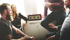 Affaires Team Discussion Meeting Corporate Concept photographie stock libre de droits