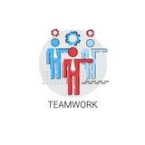 Affaires Team Icon de gestion de travail d'équipe Photo stock