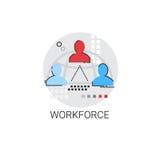 Affaires Team Leadership Icon de gestion de main-d'oeuvre Image libre de droits