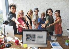 Affaires Team Workspace Start vers le haut de concept Photographie stock