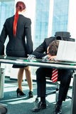 Affaires - tension dans le bureau Images stock