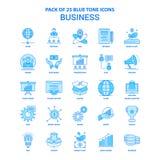 Affaires Tone Icon Pack bleue - 25 ensembles d'icône illustration stock
