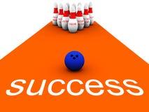 Affaires vol. 1 de bowling illustration de vecteur