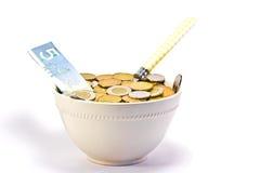 Affamé pour l'argent comptant Image libre de droits