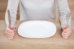 Affamato su una dieta Fotografia Stock