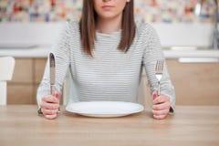 Affamato su una dieta Immagini Stock Libere da Diritti