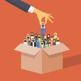 Affare arabo Person Candidate Box Muslim People di raccolto della mano di assunzione Fotografia Stock