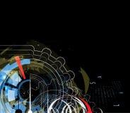 Affare astratto di tecnologia del triangolo del computer del circuito della struttura Fotografia Stock Libera da Diritti