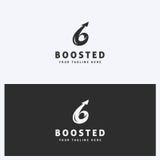 Affare astratto Logo Icon Design Template con la freccia Stile semplice e pulito Colori in bianco e nero Fotografia Stock Libera da Diritti