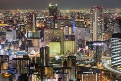 Affare centrale dell'ufficio di città di Osaka del centro Immagini Stock