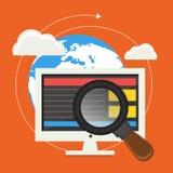 Affare che analizza concetto con gli elementi Immagine Stock