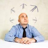 Affare choice o che prende le decisioni Immagini Stock