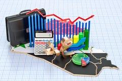 Affare, commercio e finanza nel concetto dell'Irak, rappresentazione 3D illustrazione vettoriale