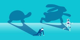 Affare con il concetto della concorrenza illustrazione di stock