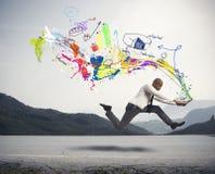 Affare creativo veloce Fotografia Stock