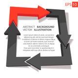 Affare 3D infographic sottragga la priorità bassa Immagini Stock Libere da Diritti
