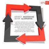 Affare 3D infographic sottragga la priorità bassa Fotografia Stock