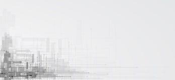 Affare del fondo di tecnologia & direzione astratti di sviluppo illustrazione di stock