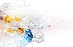 Affare del fondo di tecnologia & direzione astratti di sviluppo royalty illustrazione gratis