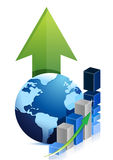 Affare del grafico del globo Fotografie Stock