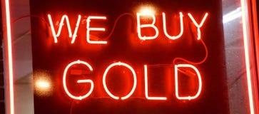 Affare del mediatore e del pegno dell'oro fotografie stock libere da diritti