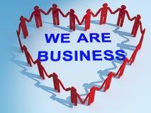 Affare del testo di Heart And dell'uomo d'affari Immagine Stock Libera da Diritti