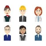 Affare dell'avatar della gente e carattere semplici del trasportatore illustrazione di stock